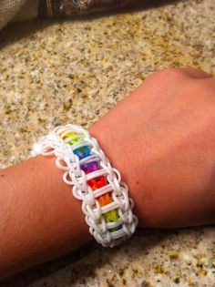 love that ladder braclet my freiend made the same one but the white was black the white is prettier <3 <3 love it!!!!!!