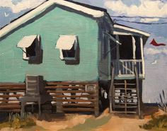 Daily Paintworks - Kevin Larson-Beach cottage 8