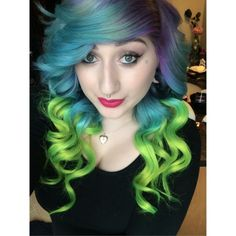 Multicolored Hair in Manic Panic Colors - Hair Colors Ideas