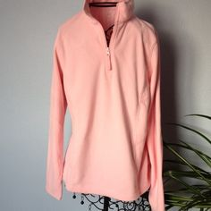 Pink fleece pullover. NWT. Size small. Pink warm fleece pullover with zipper opening.  Would make a great gift. Life Tops Sweatshirts & Hoodies