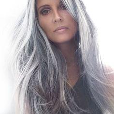 Hmm (annika von holdt) silver hair hair, long hair styles, s Grey Hair Over 50, Long Gray Hair, Silver Grey Hair, White Hair, Silver Color, Over 60 Hairstyles, Hairstyles Haircuts, Latest Hairstyles, Pretty Hairstyles