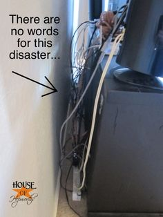 How to mount a TV  hide the cords (there ARE words for that disaster... but maybe inappropriate here :))