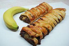 Πλεξούδα σοκολάτα - μπανάνα. Πλεξούδα σφολιάτας γεμιστή με σοκολάτα και μπανάνα...