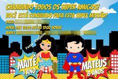 Convite IMPRESSO M Maravilha/Super Man 1