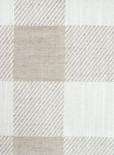 Catamaran Check Upholstery Fabric A large gingham check fabric in fawn and ivory, cleverly woven with twill.