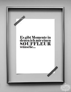 'SOUFFLEUR' DinA 4 Typo Druck von cute as a button auf DaWanda.com