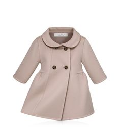 BABY DIOR - Manteau double face cachemire rose et taupe