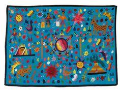 Handgeborduurd wandkleed kinderkamer uit Guatemala  http://www.enmisalsa.com/magento/default/utz-guatemala/kinderkamer-wandkleden-nf/el-mundo.html