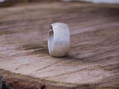 Breiter Ring(10mm) 925er Silber, Ehering von Schmuck-Batih auf DaWanda.com