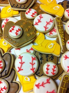baseball cookies shopsugargems.com facebook.com/shopsugargems