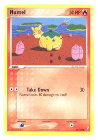 Numel EX Crystal Guardians card