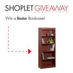 #WIN a Bookcase from Bestar! Just Follow, Repin & leave us a comment about what your favorite book is! Good luck :) #GIVEAWAY!
