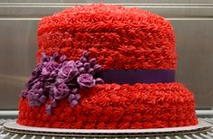 Red Hat Society Cake by Sweet Ruminations Red Hat Club, Red Hat Ladies, Hat Cake, Red Hat Society, Hat Crafts, Beanie Boos, Pink Hat, Red Hats, Girl With Hat