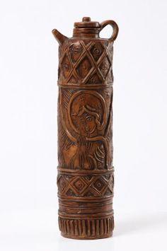 Kovács Margit -Hengeres testű korsó Pepper Grinder, Museum, Ceramics, Ceramica, Pottery, Ceramic Art, Museums, Porcelain, Ceramic Pottery