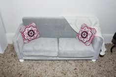DIY Doll Couch, Sofa, or Loveseat for 18 inch dolls!