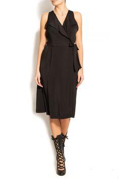 Smaranda Almasan | Rochie midi cu decolteu in V din matase | WE LOVE COUTURE Wrap Dress, Couture, Dresses, Fashion, Gowns, Moda, Fashion Styles, Wrap Dresses, Dress