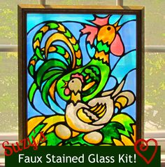 How To Make Stain Glass With Glue and Paint. @Til Culbertson