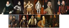 Tudor – Elizabethan Hairstyles and Headwear – The History Buff Elizabethan Theatre, Elizabethan Era, Hipster Fashion, Mens Fashion, Curled Hairstyles, Cropped Hairstyles, Simply Image, Crop Hair, Tudor Era