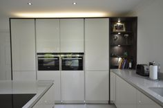 Pronorm Y-line Handless units in the Gloss Crystal colour