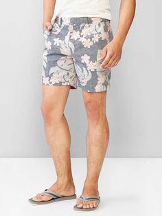 "Kennedy tropical print shorts (7"") $28 #UnderThePier"