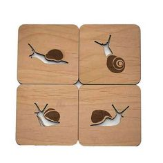 These Snail coasters arent something you see just every day. No Snail slime here! Our Snail coasters are excellent for protecting your furniture