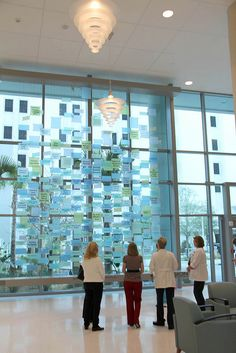 Our light and bright Donor Wall adorns the Courtyard Tower first floor lobby.The first floor is now open and serving patients.
