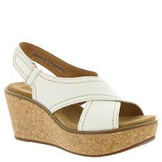 7de0d7f20a Clarks Aisley Tulip (Women's) White Wedge Heels, White Sandals, White Wedges ,