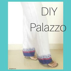 How to make palazzo pants - {free} diy pattern - sew guide Pattern Drafting Tutorials, Sewing Patterns Free, Sewing Tutorials, Clothing Patterns, Sewing Projects, Diy Clothing, Sewing Ideas, Modest Clothing, Craft Projects