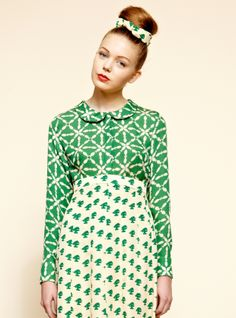 Green Fish Blouse by Charlotte Taylor