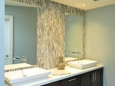 Contemporary Bathrooms are the trending fashion for homes today! Check out these examples | Ideas | PaperToStone
