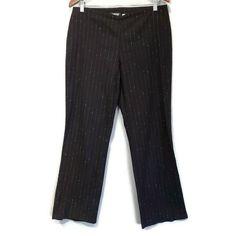 Vtg La Rapp Pintstripe Pants Womens Size 31 Black Beige Convertible Bootcut Leg #LaRapp #DressPants #Business Dress Pants, Online Price, Convertible, Pants For Women, Beige, Business, Ebay, Black, Fashion