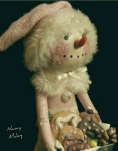 Snowman...baking with Grandma