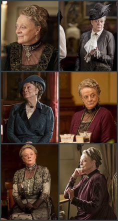 Lady Violet Grantham, Dowager Countess, costumes de Downton Abbey saison 4