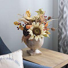 Sunflower and Pumpkin Arrangement   Kirklands