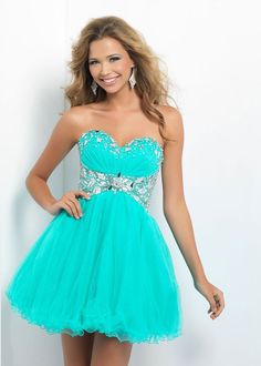 Short is in! You can rock a short prom dress too, ladies :)