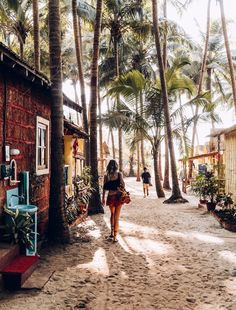 For miles, Goa is only one town of huts with flowers of beaches.