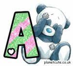Alfabeto de amiguitos con la nariz azul.
