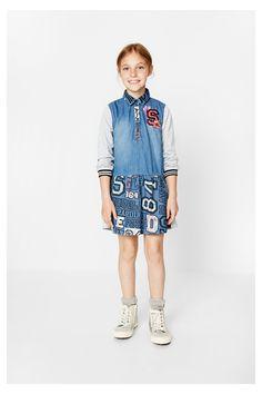 Vestido manga larga para niña - El Aaiún   Desigual.com