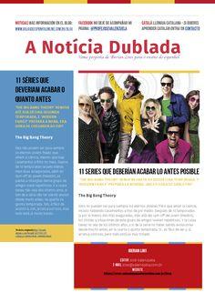 """Ya está en el aire la nueva """"Notícia Dublada"""" en mi blog: http://aulasdeespanholonline.com.br/blog/noticias-dubladas-series/ ¡No dejéis de visitarlo y, por favor, compartid con vuestros amigos!"""