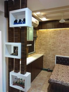 Residential Interiors home interior affordable budgets Home interior ideas false ceiling thane Living Room interior thane Modular kitchen Room Partition Wall, Living Room Partition Design, Room Partition Designs, Room Door Design, Tv Wall Design, Living Room Divider, Wall Wardrobe Design, Wardrobe Interior Design, Partition Ideas