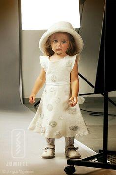 Felted dress. Felt dress, wool and silk.