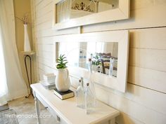 Thrifty and Chic: Chunky Framed Knock-off Ballard Designs Garden District Mirrors