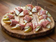 Get Pear with Prosciutto and Gorgonzola Recipe from Cooking Channel