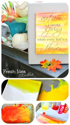 How to Make your own Inspirational Word Art for Fall