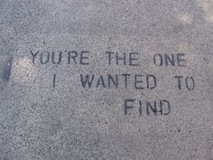 You're The One I Wanted