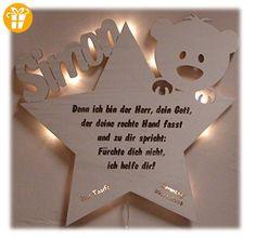 Schlummerlicht24 Led Nachtlicht Baby-Lampe Teddy Stern Baby-Geschenke zur Taufe mit Namen Tauf-spruch Gravur personalisiert Geburt-sgeschenke Taufgeschenke für Junge-n Mädchen Paten-Kind Mutter Zimmer - Shirts mit spruch (*Partner-Link)