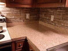 My Newly Covered Countertops...with Contact Paper! A Big Improvement, Trust