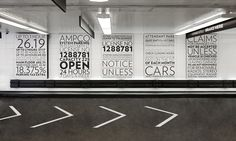 Wall Signs and Road Arrows, Parking at 13-17 East 54th Street, Cohen Bros. Realty, Pentagram #SEGD