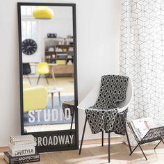 Spiegel STUDIO mit schwarzem Holzrahmen, H 150 cm