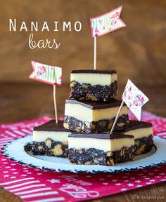 Kinuskikissan Kanadalaiset Nanaimo bars leivokset.